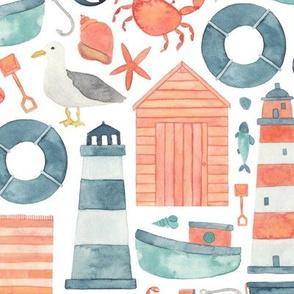 Nautical Seaside Pattern
