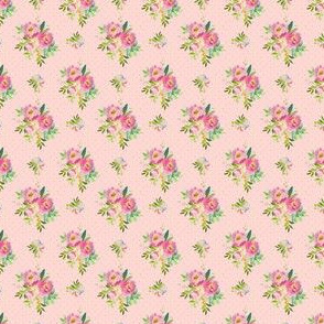 """1.5"""" Pink and Green Florals - Pink with Polka Dots"""
