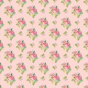 """1.5"""" Pink and Green Florals - Pink"""
