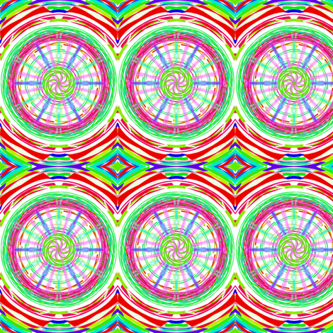 Bicycle Wheels Spinning Along fabric by rhondadesigns on Spoonflower - custom fabric