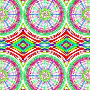 Bicycle Wheels Spinning Along