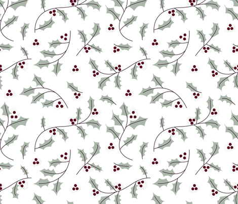Elegant Holly fabric by bashfulbirdie on Spoonflower - custom fabric