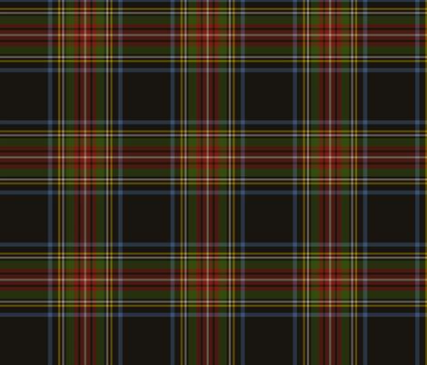 "Stewart black tartan, 6"" muted fabric by weavingmajor on Spoonflower - custom fabric"