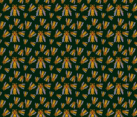 Worker Bee fabric by lovefromalaska on Spoonflower - custom fabric