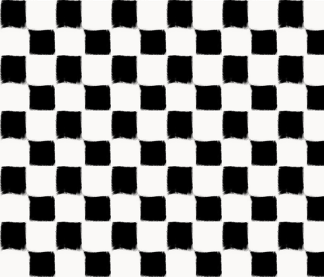 Big Checker Stroke Black on White fabric by form_creative on Spoonflower - custom fabric
