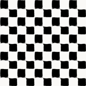 Big Checker Stroke Black on White