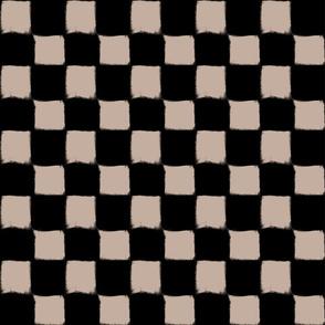 Big Checker Stroke Nude on Black