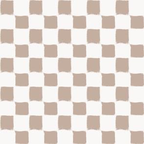 Big Checker Stroke Nude on White