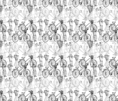 Bici blanco y negro fabric by csic_arte on Spoonflower - custom fabric