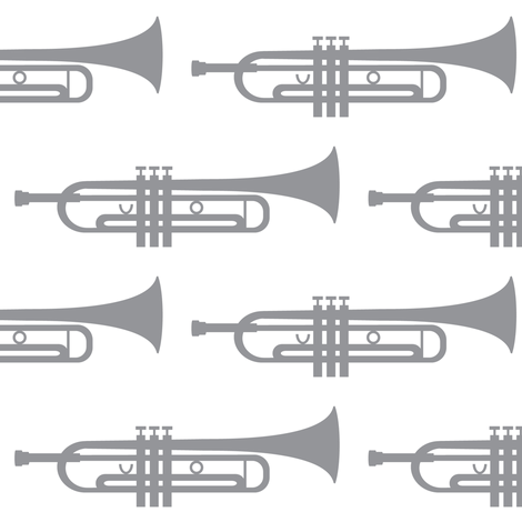grey trumpets fabric by lilcubby on Spoonflower - custom fabric