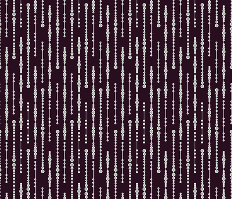 lines of icicles on deep aubergine - Winter Soiree Collection fabric by groundnut_apiary on Spoonflower - custom fabric