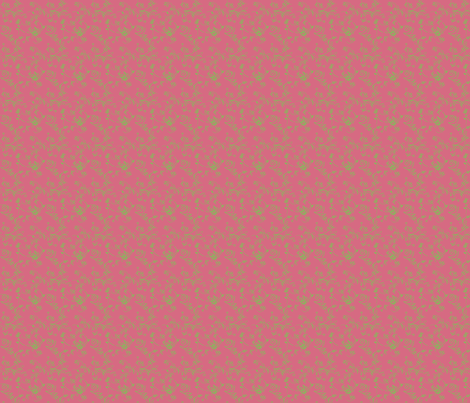 Ivy on Pink fabric by della_vita on Spoonflower - custom fabric