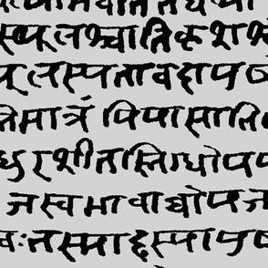 Sanskrit on Grey // Large