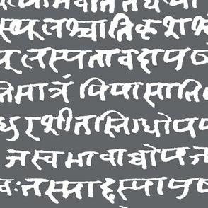 Sanskrit on Shuttle Grey // Large