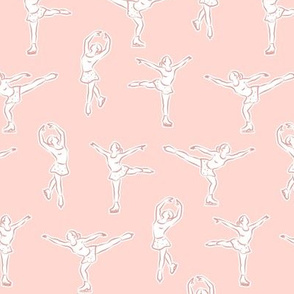 (small scale) Figure skating on pink