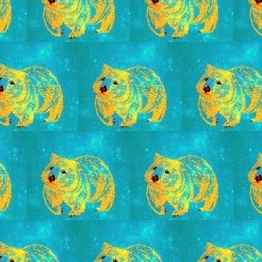 The Constellation Wombat trot-GoldOnTeal-Lighter-