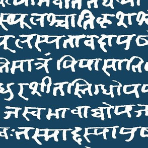 Sanskrit on Blue Stone // Large