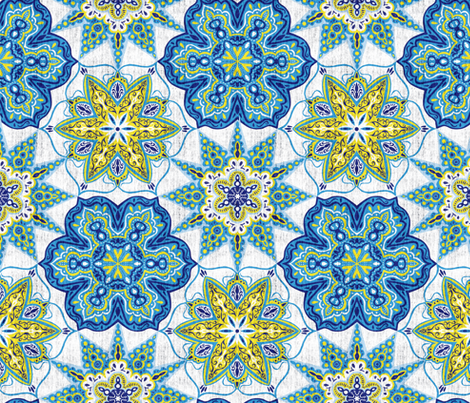 Moroccan Medallions - Textured fabric by scarlette_soleil on Spoonflower - custom fabric
