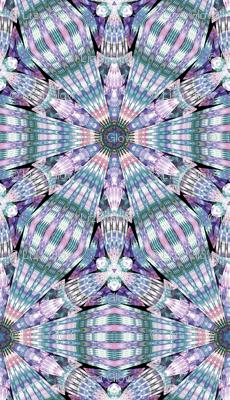 Muted Hexagon fractal burst