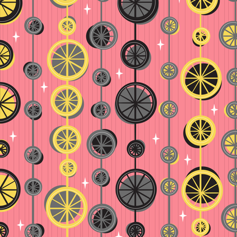 Keep Rolling On fabric by robyriker on Spoonflower - custom fabric