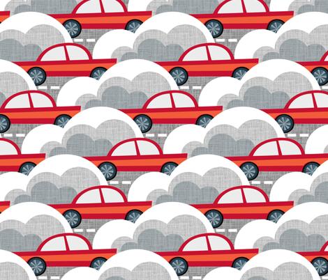 Papercut Cars fabric by spellstone on Spoonflower - custom fabric