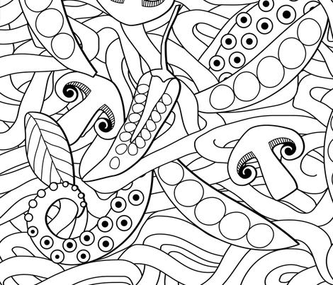 Ramen fabric by spellstone on Spoonflower - custom fabric