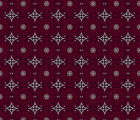 Moroccan Lattice Elegant Holiday Limited Color Palette  fabric by delinda_graphic_studio on Spoonflower - custom fabric
