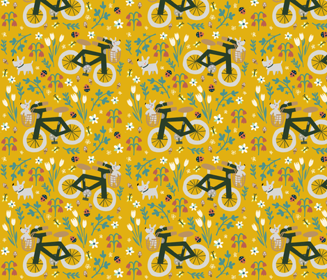 Spring bike ride fabric by anda on Spoonflower - custom fabric