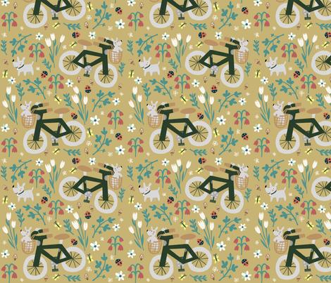 Spring bike ride fabric by anda on Spoonflower - custom fabric