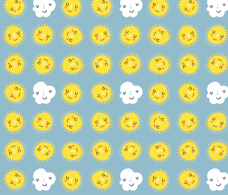 Partly cloudy fabric by anda on Spoonflower - custom fabric