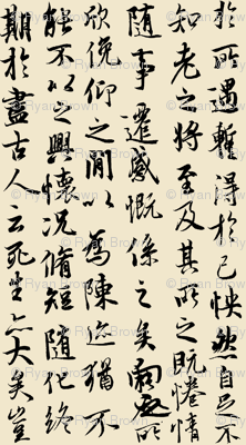 Ancient Chinese Calligraphy on Parchment // Large