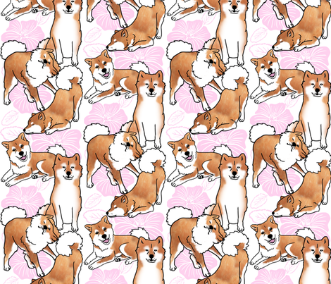 Breezeley poses (white) fabric by hakuai on Spoonflower - custom fabric