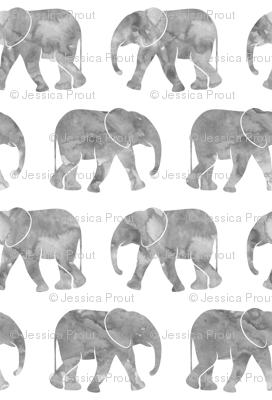 (large scale) baby elephants - grey