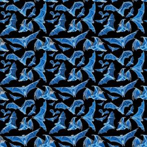 flying fox bats water color iii 6x6