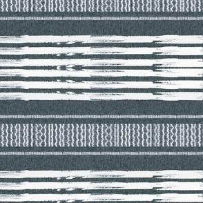 Gray and White linen Stripes blanket
