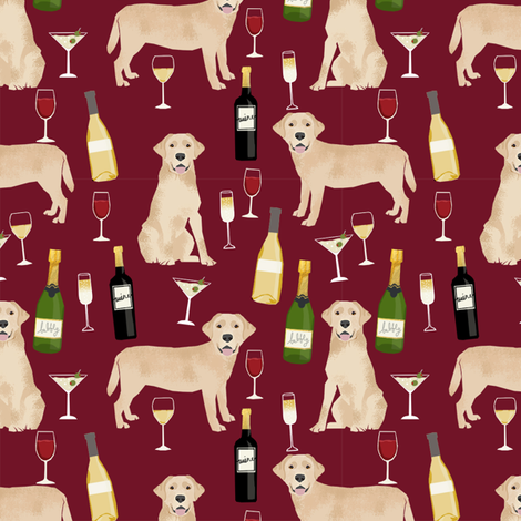 yellow lab wine labrador retriever dog breed fabric ruby fabric by petfriendly on Spoonflower - custom fabric