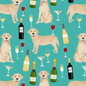 yellow lab wine labrador retriever dog breed fabric teal