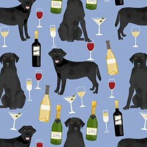 black lab wine labrador retriever dog fabric blueberry