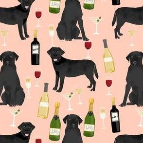 black lab wine labrador retriever dog fabric peach