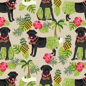 black lab hula tropical hawaii islands dog breed fabric tan