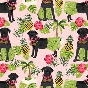 black lab hula tropical hawaii islands dog breed fabric pink