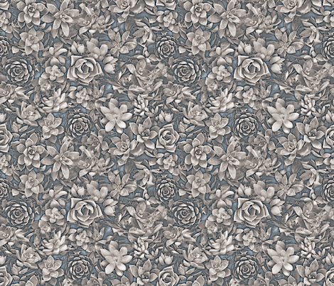 succulent greys fabric by mypetalpress on Spoonflower - custom fabric
