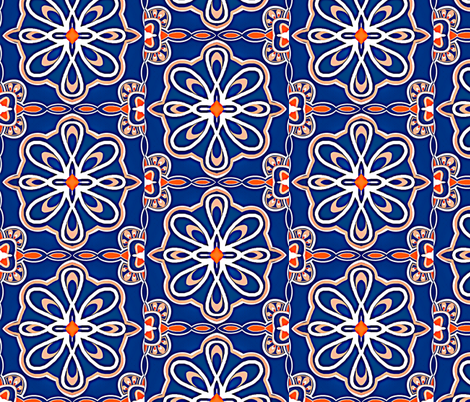 Contemporary Moroccan Style Tiles fabric by franbail on Spoonflower - custom fabric
