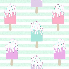 popsicle summer food stripes mint