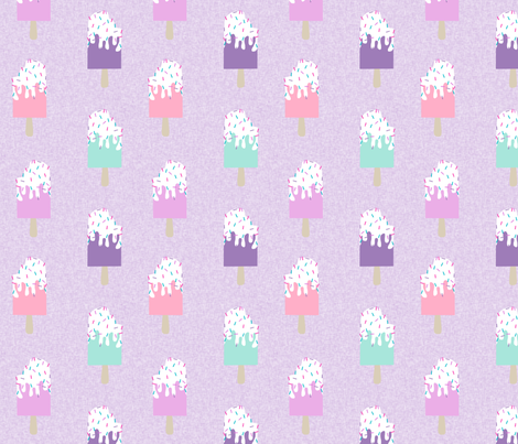 popsicle summer food purple fabric by charlottewinter on Spoonflower - custom fabric
