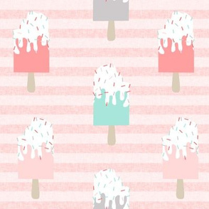 popsicle summer food stripes pink