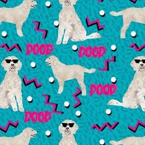 doodle dood retro 80s style rad dog fabric blue