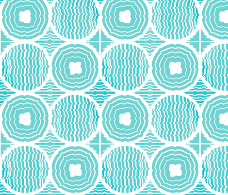 The Geo in Motion Blues fabric by franbail on Spoonflower - custom fabric