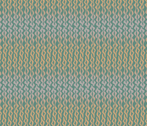 Squiggly Teal Seaweed fabric by rhea_evans on Spoonflower - custom fabric