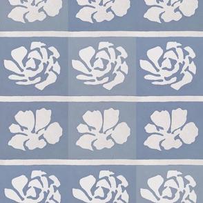 Blue Grey Stencil Block